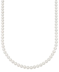 Belle De Mer Pearl Necklace 22' 14K Gold A Akoya Cultured Pearl Strand 7 7 1 2Mm