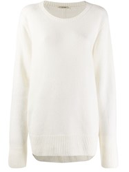 The Row Oversized Fit Jumper White