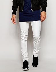 Religion Faux Leather Trousers In Skinny Fit White