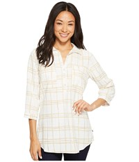 Royal Robbins Expedition Chill Stretch Tunic Soapstone Print Long Sleeve Pullover White