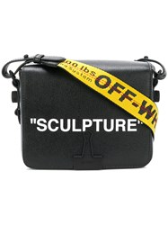 Off White Sculpture Printed Satchel Leather Black