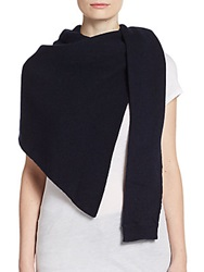 Christophe Lemaire Asymmetrical Wool Scarf Navy