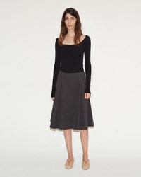 Christophe Lemaire Wrapover Skirt Anthracite