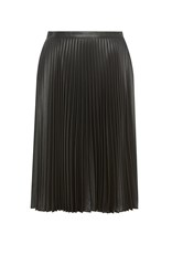 Karen Millen Wetlook Pleat Maxi Skirt Black