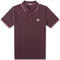 Moncler Classic Contrast Tipped Polo Brown