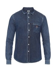 Kenzo Tiger Head Embroidered Denim Shirt