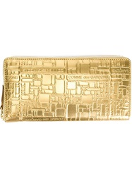 Comme Des Garcons Wallet 'Embossed Logo' Wallet Metallic