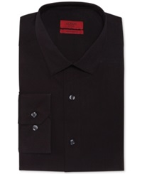Alfani Red Fitted Solid Performance Dress Shirt Black