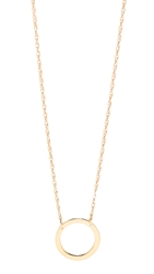 Jennifer Zeuner Jewelry Small Open Circle Necklace Gold