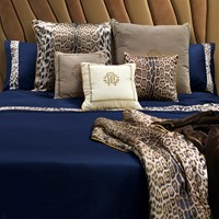 Roberto Cavalli Basic Duvet Set Super King Blue