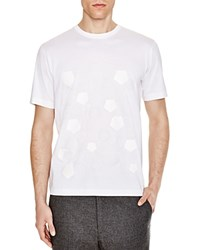 Z Zegna Pentagon Printed Slim Fit Tee White