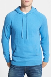 1901 Merino Wool And Cashmere Hooded Sweater Blue