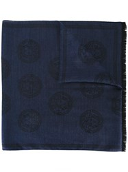 Versace Long Medusa Scarf Blue