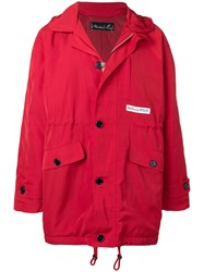 Martine Rose Hooded Parka Red