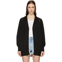 Alexander Wang Black Splittable Zip Cardigan