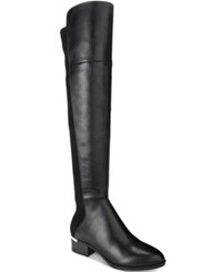 Bar Iii Rene Metal Heel Over The Knee Stretch Boots Only At Macy's Women's Shoes Black