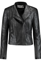 Amanda Wakeley Metallic Suede Biker Jacket