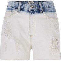 River Island Light Blue Bleached High Waisted Denim Shorts