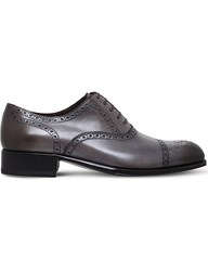 Tom Ford Edgar Wingtip Leather Brogues Grey