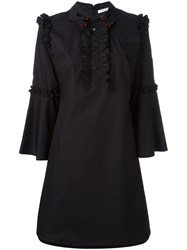 Vivetta Hands Collar Flared Dress Black