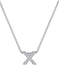 Roberto Coin Tiny Treasures Diamond And 18K White Gold Love Letter Pendant Necklace X