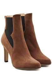 Paul Andrew Suede High Heel Chelsea Boots Brown