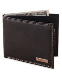 Tommy Hilfiger Leather Bifold Wallet Black
