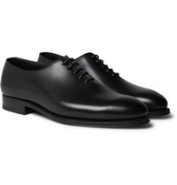 J.M. Weston Whole Cut Leather Oxford Shoes Black