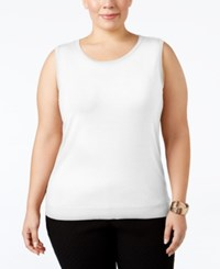 August Silk Plus Size Sleeveless Shell Cotton Ball