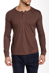 Bottoms Out Basic Henley Tee Brown