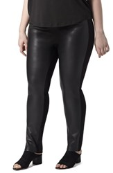 Universal Standard Plus Size Potenza Faux Leather Pants Black