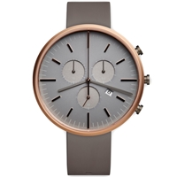 Uniform Wares M42 Chronograph Wristwatch Pvd Rose Gold And Grey Rubber