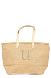 Cathy's Concepts 'Nantucket' Personalized Jute Tote Beige Natural U