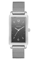 Skagen Women's 'Hagen' Rectangle Mesh Strap Watch 22Mm X 43Mm