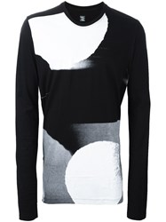 Julius Printed Long Sleeve Sweater Black