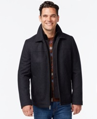 Tommy Hilfiger Open Bottom Coat With Bib Charcoal