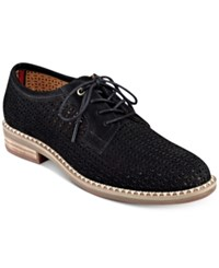 Tommy Hilfiger Raenay Perforated Lace Up Oxfords Women's Shoes Black