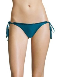 Vix By Paula Hermanny Resort 2023 Solid Bohemian Tie Full Bikini Bottom Teal