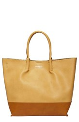 Urban Originals Revenge Colorblock Faux Leather Tote Beige Sand Tan