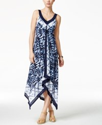 Styleandco. Style And Co. Printed Handkerchief Hem Maxi Dress Only At Macy's Seaside Paradise