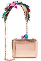 Sophia Webster Vivi Analia Metallic Leather Shoulder Bag Pink