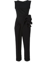 Giorgio Armani Flower Detail Jumpsuit Black