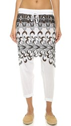 Surf Bazaar Embroidered Harem Pants White