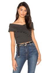 1.State Off Shoulder Wrap Top Black And White