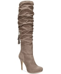 Thalia Sodi Brisa Over The Knee Boots Only At Macy's Women's Shoes Taupe