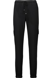 Haute Hippie Stretch Jersey Tapered Pants Black