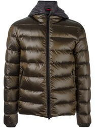 Fay Quilted Padded Jacket Brown