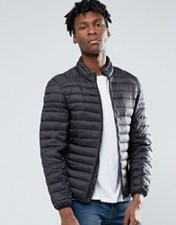 Pull And Bear Pullandbear Padded Jacket In Black Black