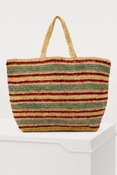 Vanessa Bruno Medium Tote Bag In Raffia