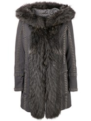 Philipp Plein Amazing Fur Coat Grey